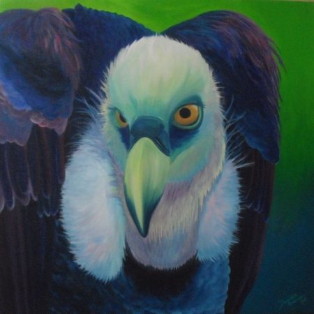 Gier, acrylverf op canvas, 3x100x100cm, 2012